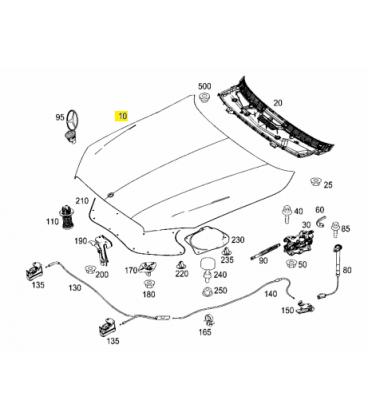 درب موتور مرسدس بنز کلاس S سال های 2013 تا 2015 - A2228800057