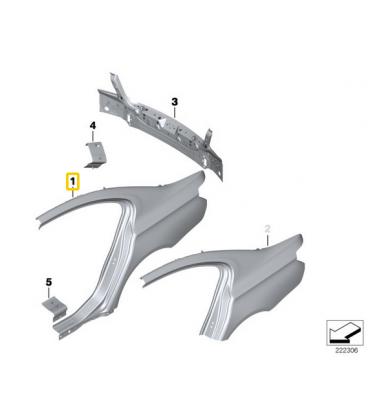 گلگیر عقب سمت چپ بی ام و سری 6 گرن کوپه سال های 2012 تا 2016 (اورجینال) - 41217295237