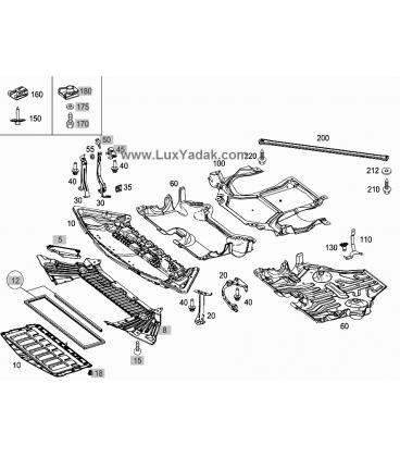 سینی زیر موتور مرسدس بنز کلاس C سال های 2008 تا 2014 (اورجینال) - A2045241230