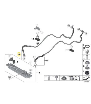 لوله خنک کننده ورودی بی ام و X6 سال های 2010 تا 2014 (اورجینال) - 17217600973