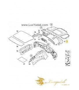 نمدی درب موتور (کاپوت) بی ام و سری 6 سال های 2003 تا 2010 - 51487148209